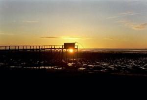 Coucher de soleil Les Moutiers en Retz automne 2004