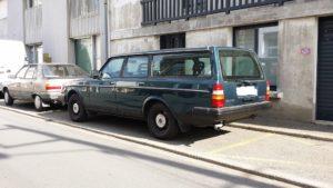 Le véhicule Volvo utilisé par le Président de l'ADRP Michel Vandier, le 21 juillet 2014, pour son vol au domicile du secrétaire et trésorier.