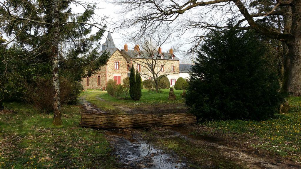 Bois-Corbeau, Cheix-en-Retz, patrimoine en péril, accès barré par un tronc d'arbre, 9 mars 2020.